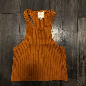 Burnt orange tank top | silence and noise